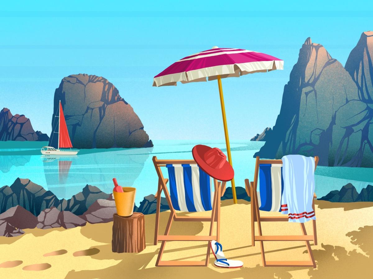 summer sea illustration
